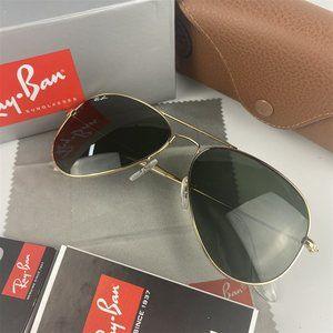 Ray Ban Aviator Gold Frame Sunglasses RB3025*1